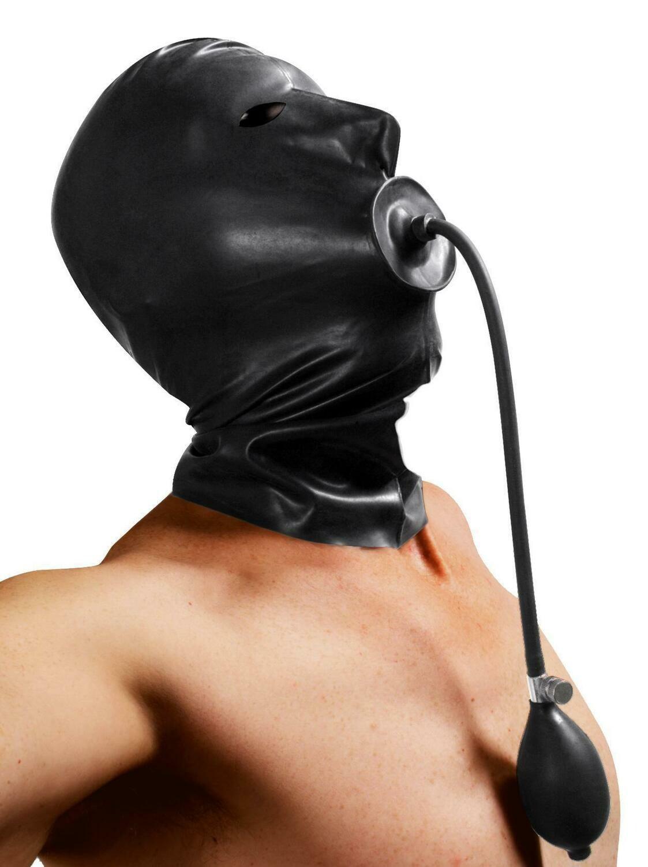 Bondage Hood With Mouth Hole Italian Leather Hand Made To