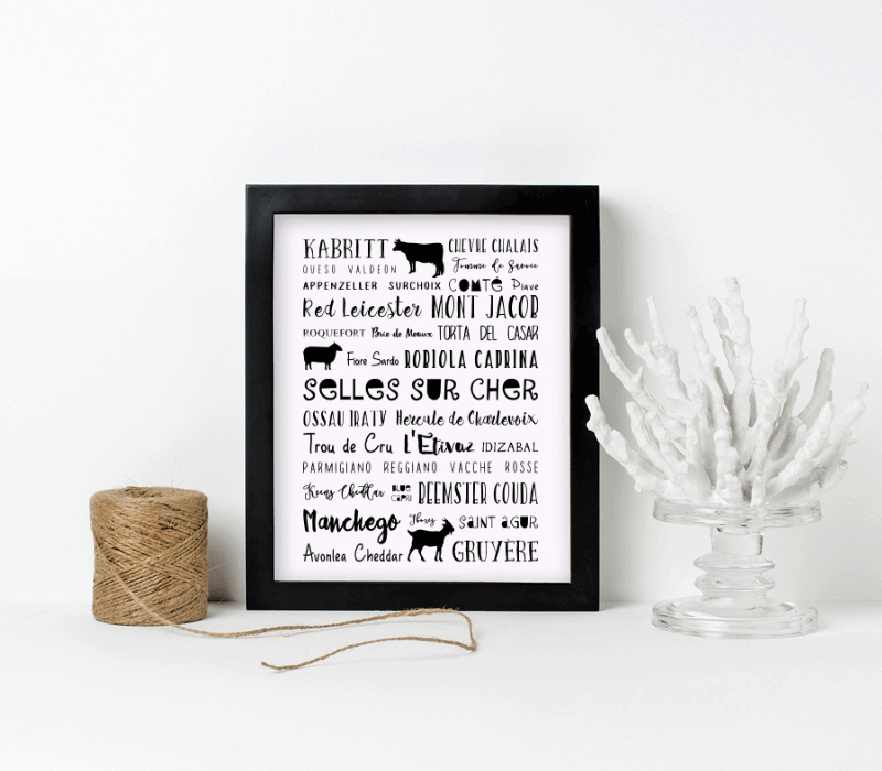 Cheese Kitchen Print 000000
