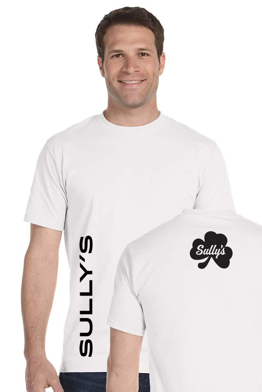 Vertical Sully's - white