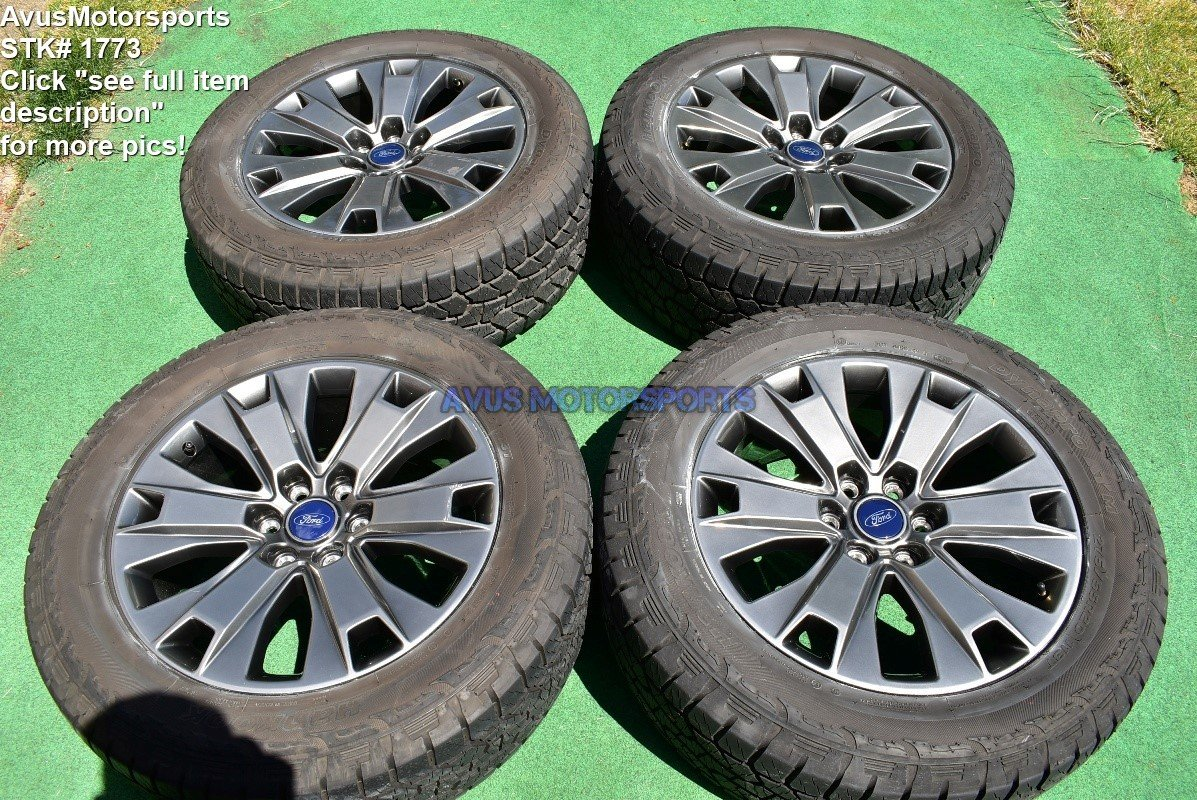 """Hankook Dynapro Atm 275 55r20 >> 20"""" Ford F150 OEM Factory Appearance Package Wheels Tires Expedition 2017 2018"""
