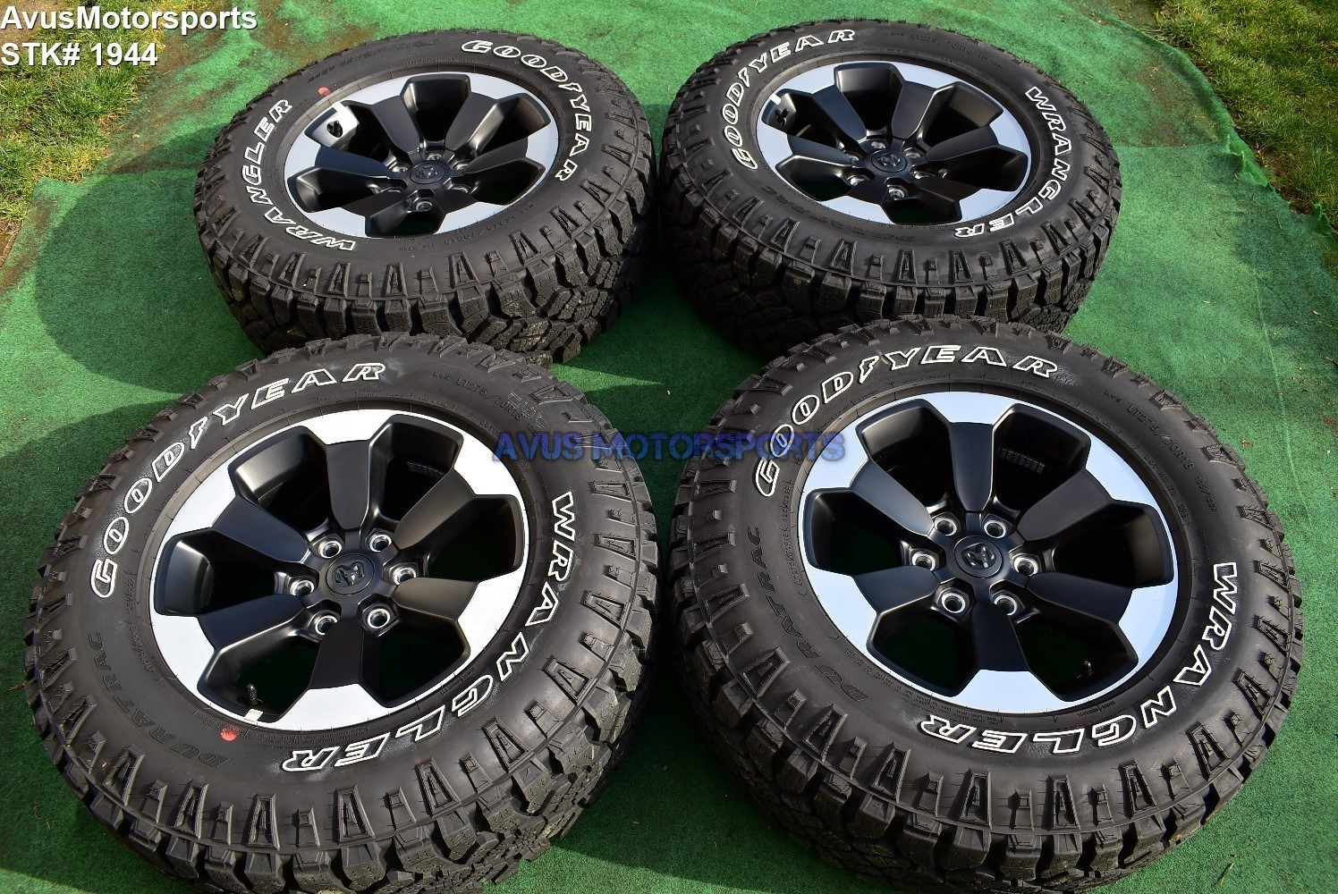 "Ram 1500 Rebel >> 18"" Dodge Ram 1500 REBEL OEM Factory Wheels Genuine 2019 Goodyear LT275/70R18"