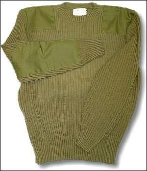 British Army New Genuine Issue Olive Wool Jumpers