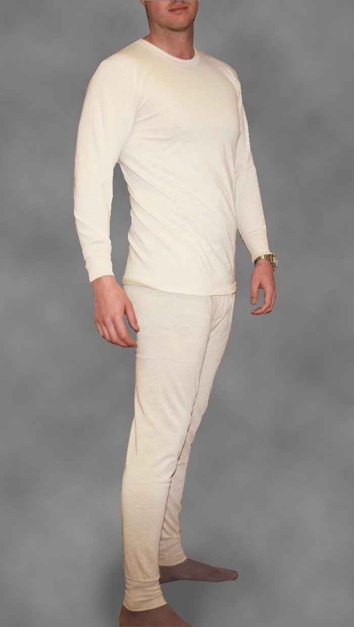 Italian Army Genuine New Cream Thermal Base Layer Top And