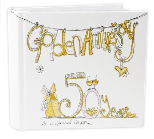 Golden Wedding Anniversary 50 Years Photo Album Tracey Russell Design