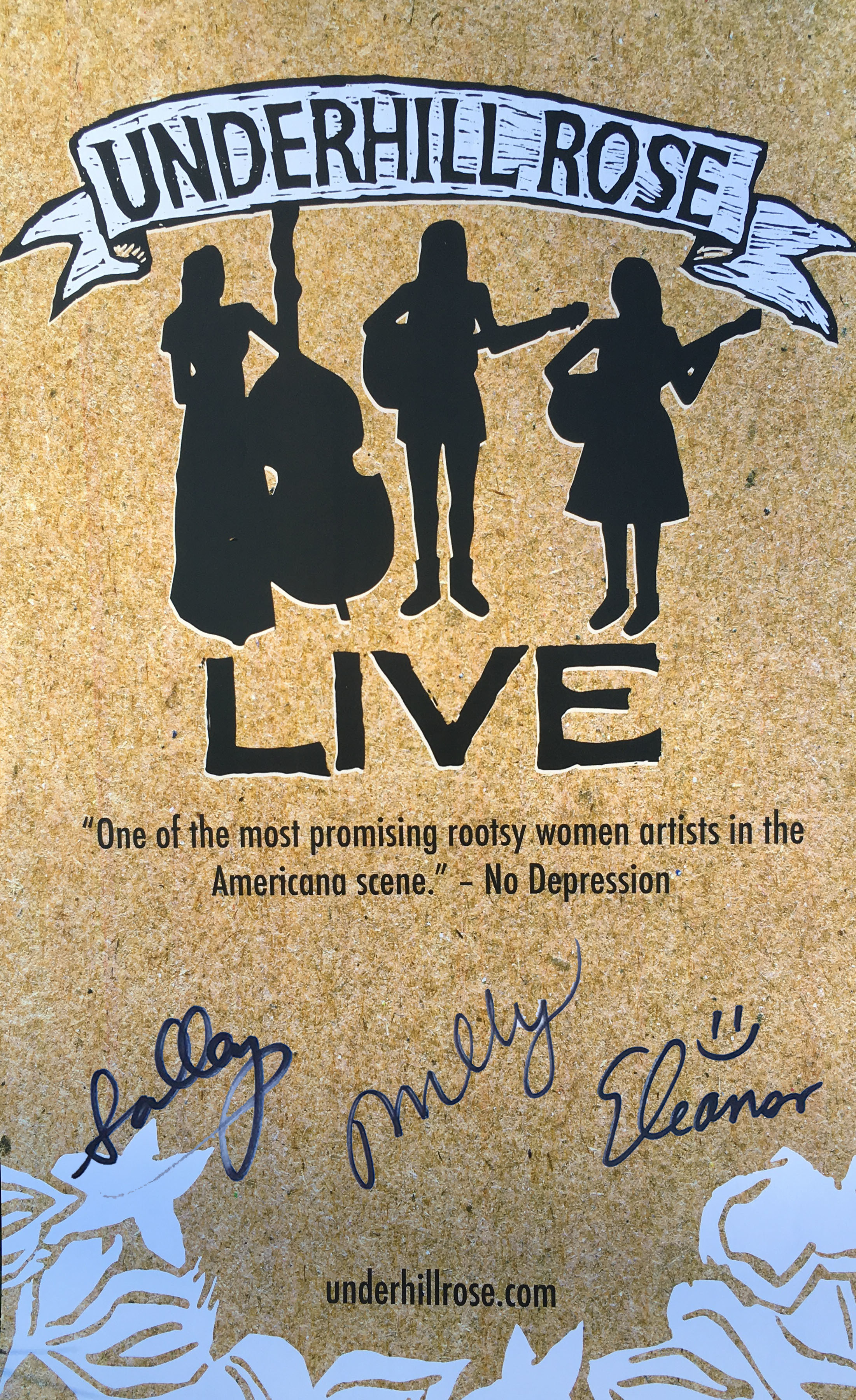 Signed Live Album tour poster 007