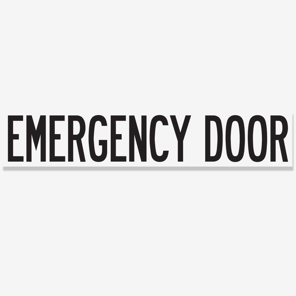 Emergency Door Black School Bus Decal Store Yellow