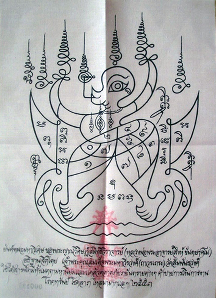 image of yantra cloth