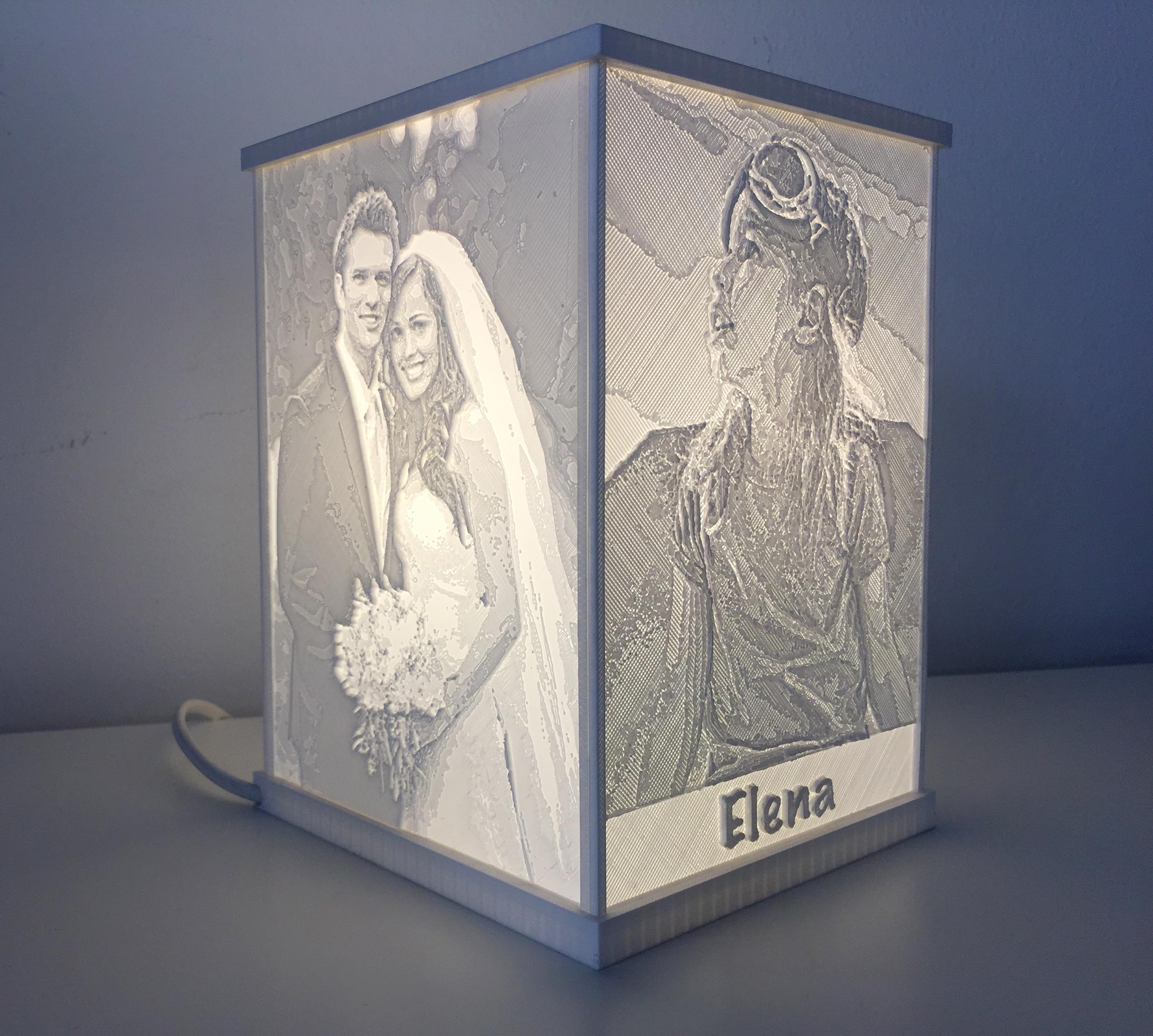 Lampada stampata con le TUE FOTO - 13x18 LITO4(13x18)