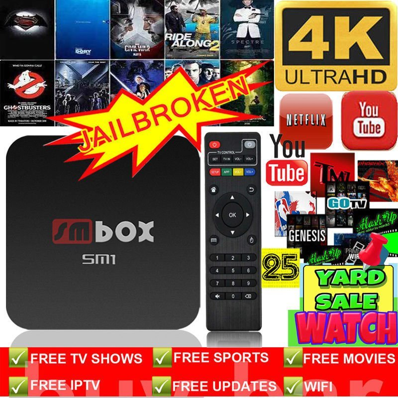 2017 NEW Quad Core 4k Android 4.4 Smart TV Box Streaming Player FREE Sports and Movies UK