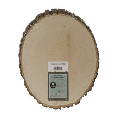 Extra Large Basswood Rustic Country Round - 11