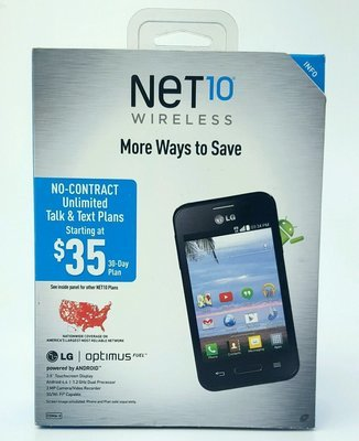 LG Optimus Fuel Prepaid Mobile Cell Phone Net 10 Unlimited Talk Text Data 3G