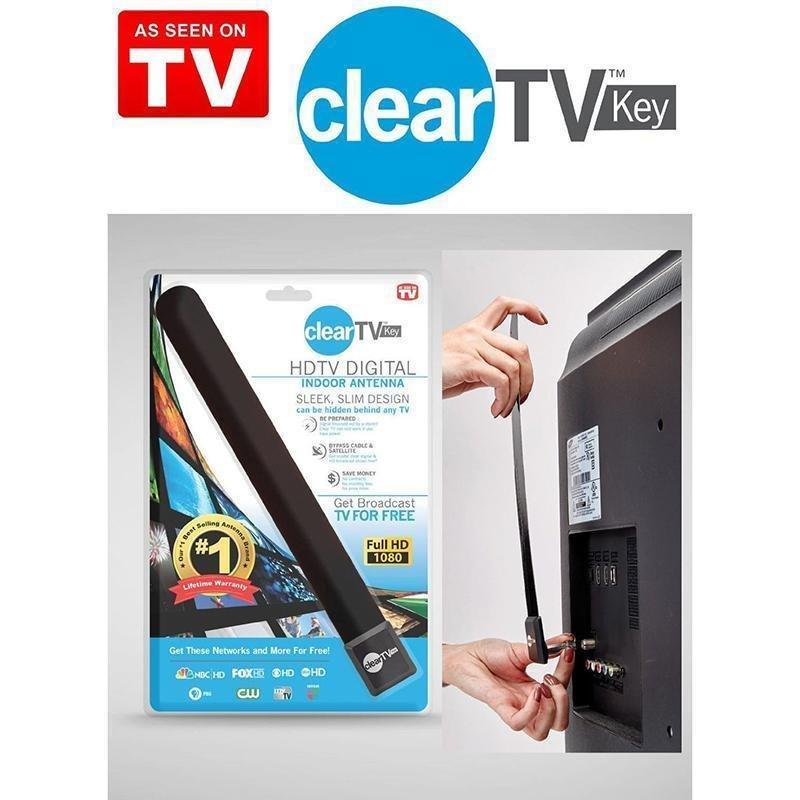 Clear TV Key HDTV FREE TV Digital Indoor Antenna Fast & Easy Setup Local Tv FREE