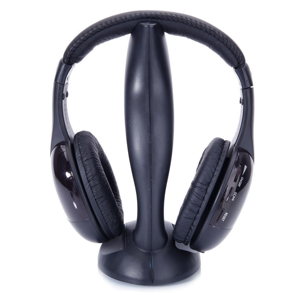 8 in 1 Wireless Headphones Stereo Headset For Television FM Radio Mp3 Player CD/DVD PC Chat