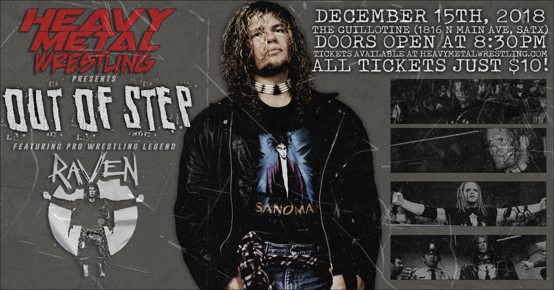 """""""Out of Step"""" featuring ECW legend RAVEN -  General Admission Tickets 00012"""