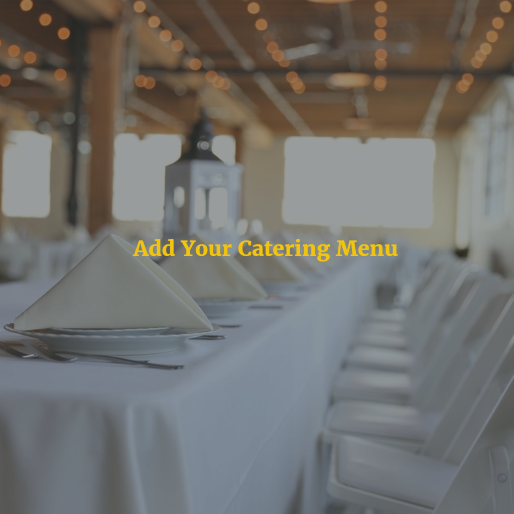 Add Catering Menu - One Time Cost 00001