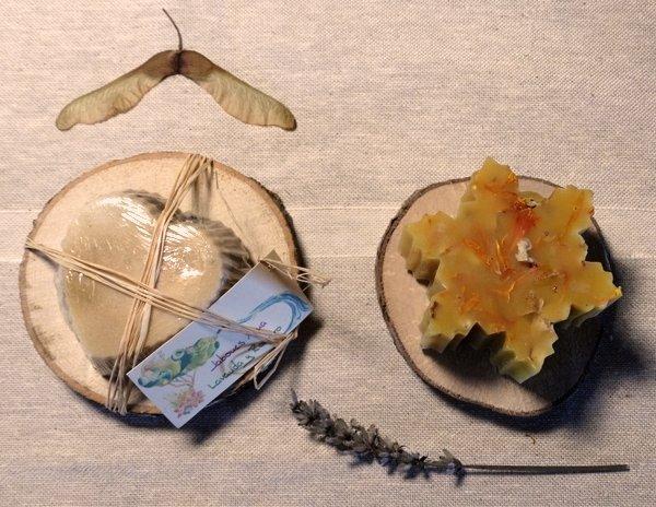 Jabón de lavanda y romero + Vela cera de abeja ecológico 09