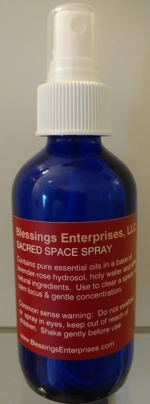 Space Clearing Spray 4 oz bottle with spritzer