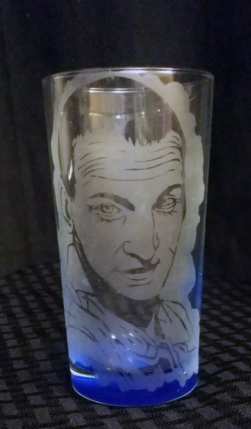 Doctor Who 9th Doctor / Christopher Eccleston Etched Glass CD-003