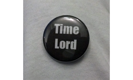 "Doctor Who ""Time Lord"" Button B-007"