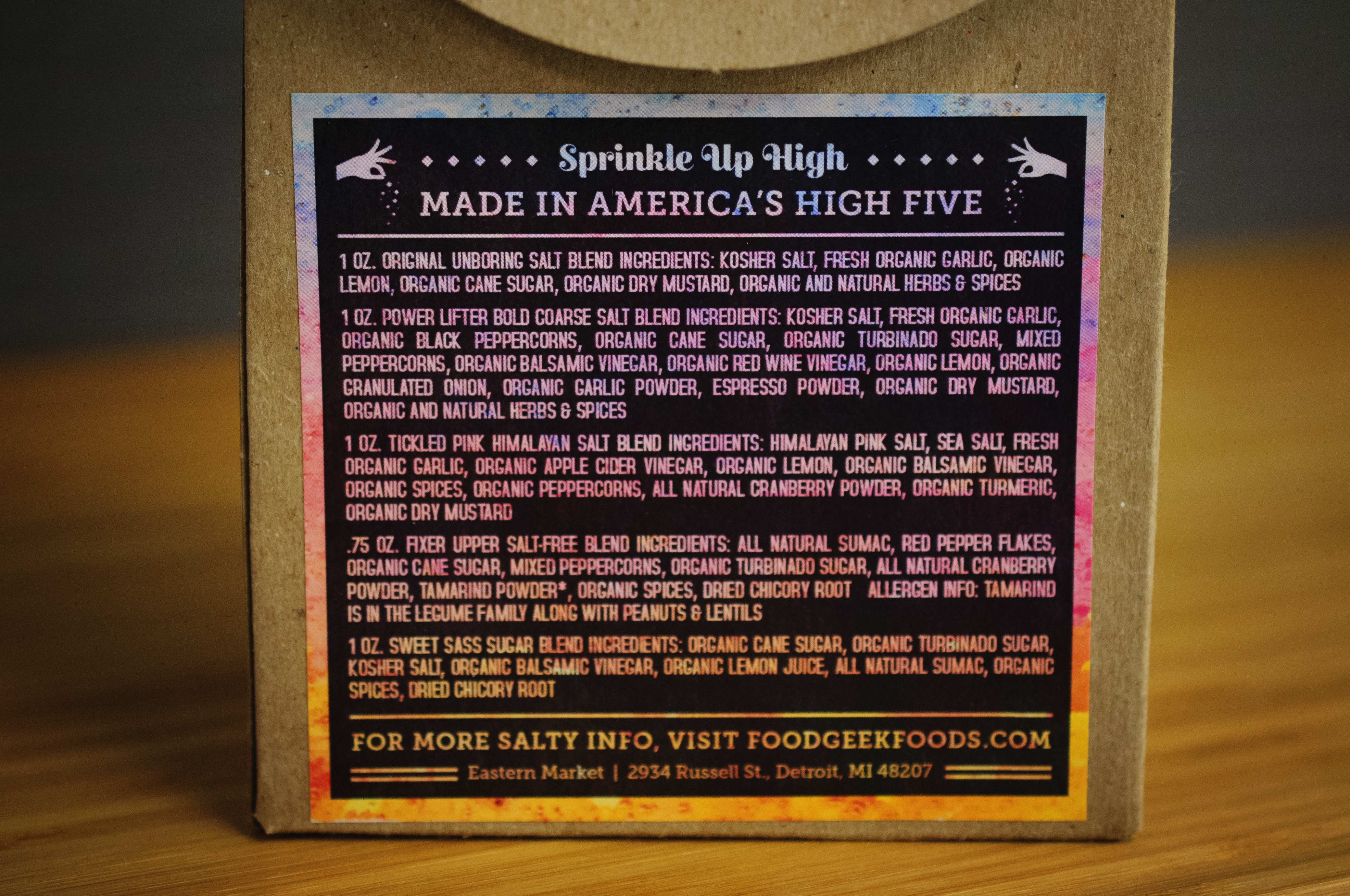 Variety Pack   High 5 Salts with Benefits