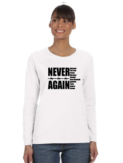 "Women's ""Never Again"" Tee 002"