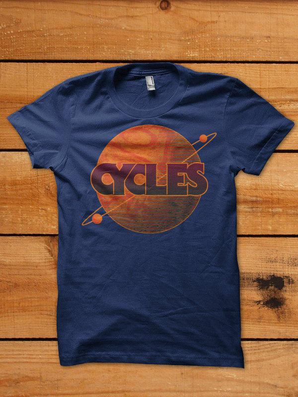 Cycles Planet Shirt - Navy 00007