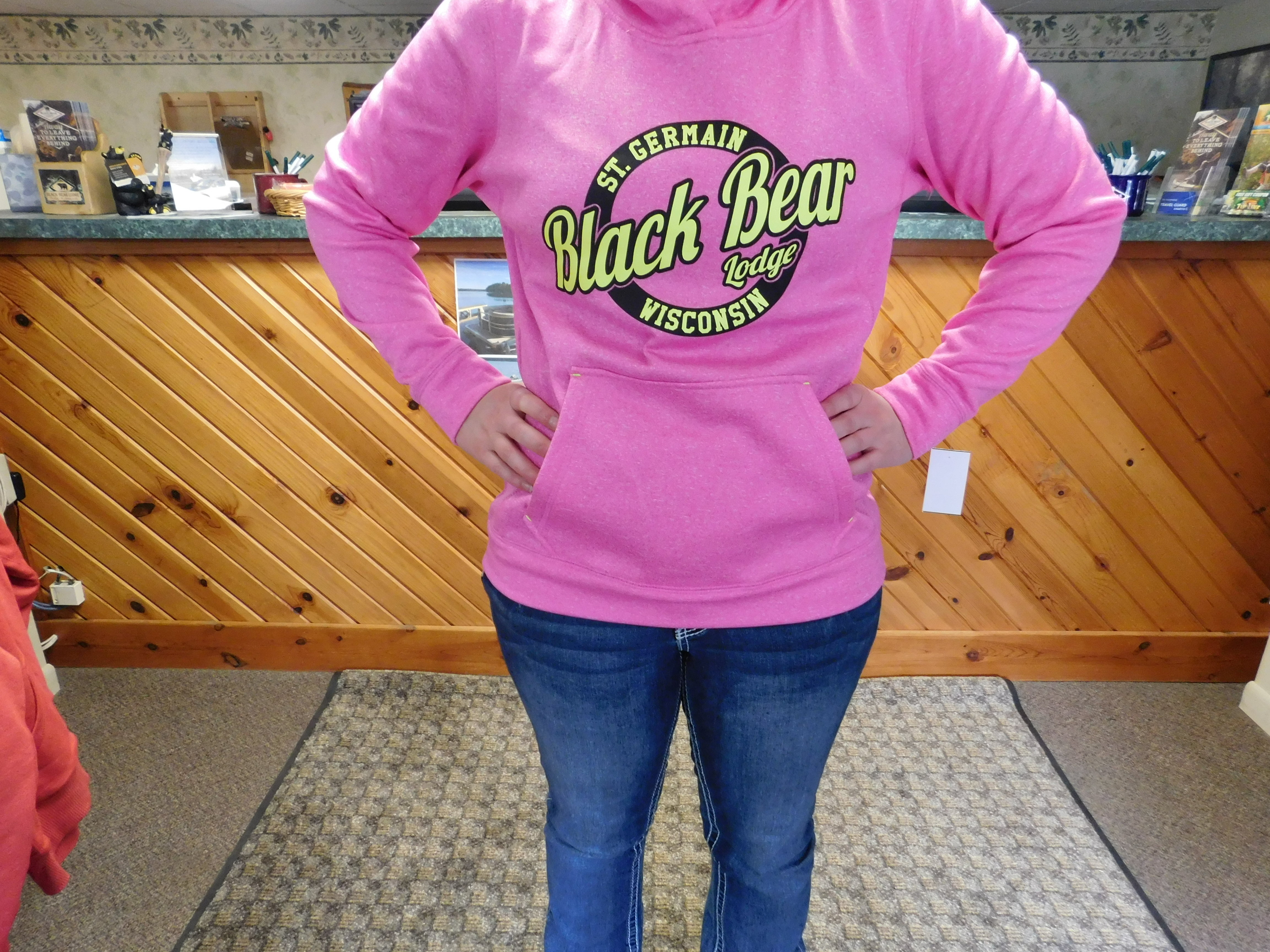 BBL Pink & Bright Yellow Pullover Hoodie 00007