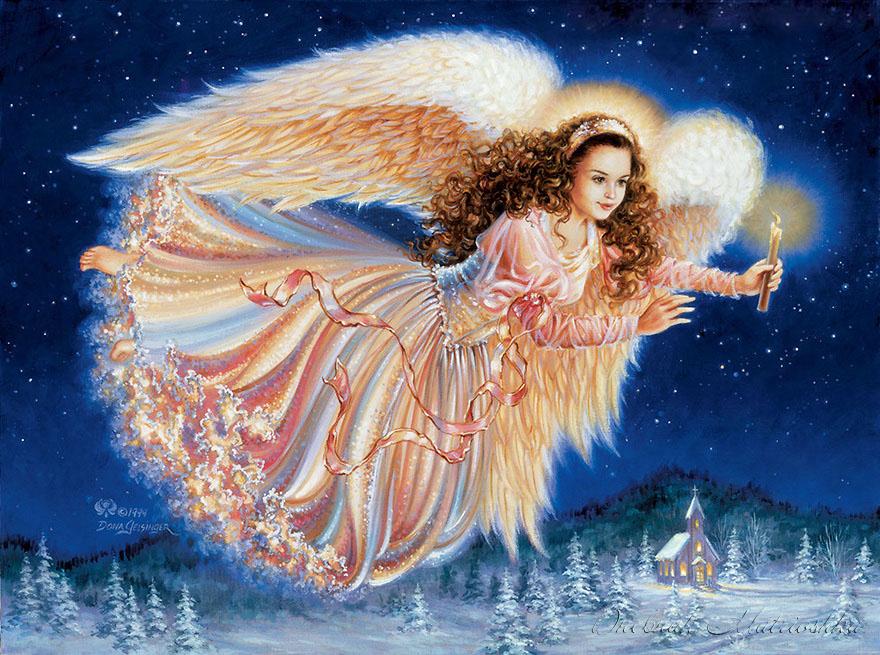 Рождество христово картинки с ангелами, создать открытку