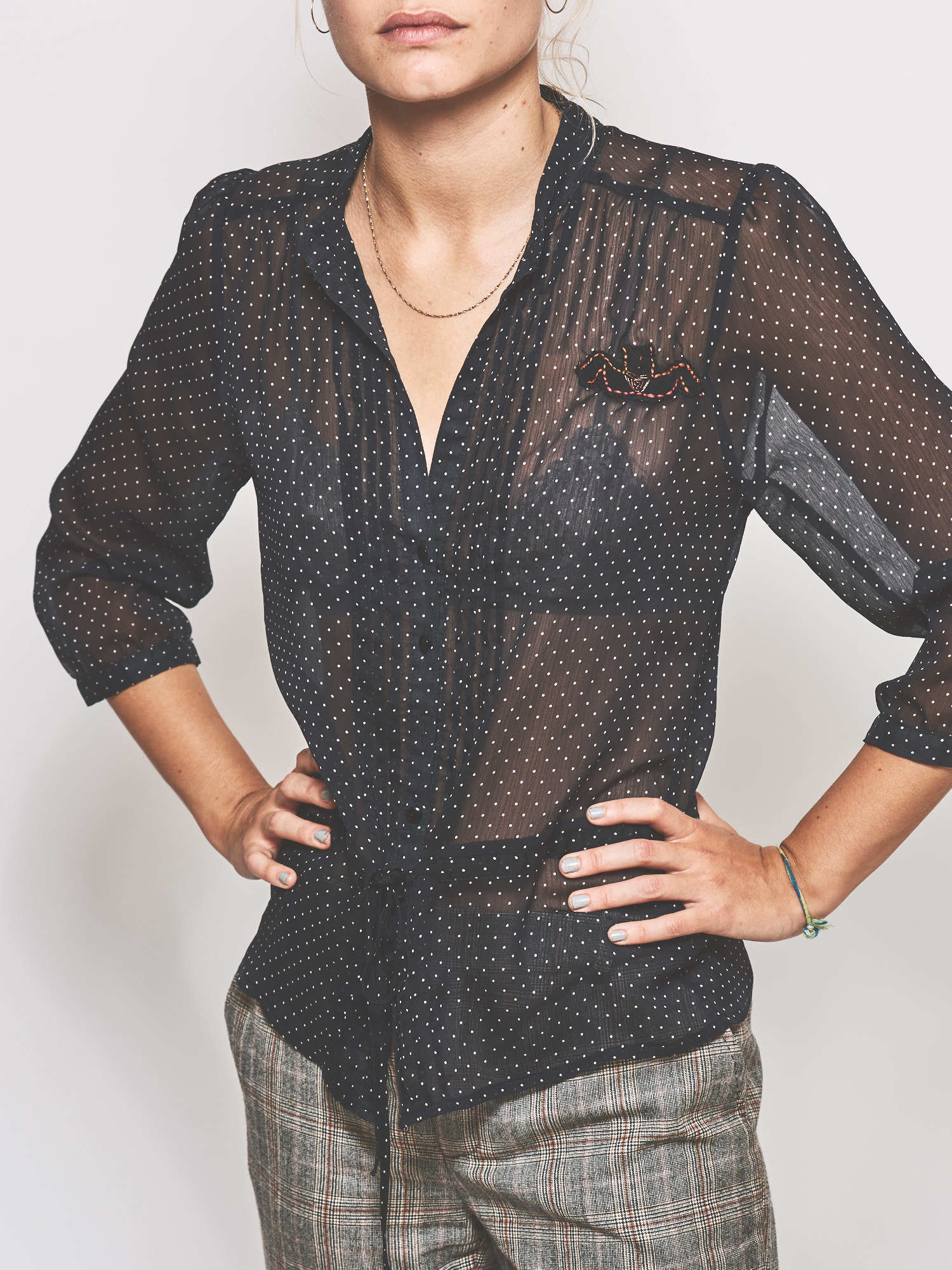 The Spotted Shirt with Logo
