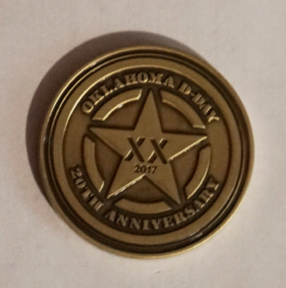 Oklahoma D-Day 20th Anniversary Coin