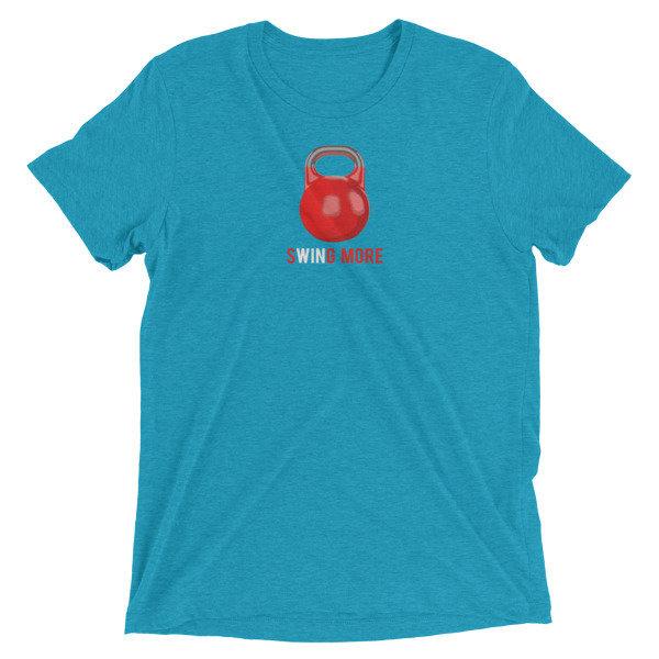 """Kettlebell T-Shirt- """"Swing More"""""""