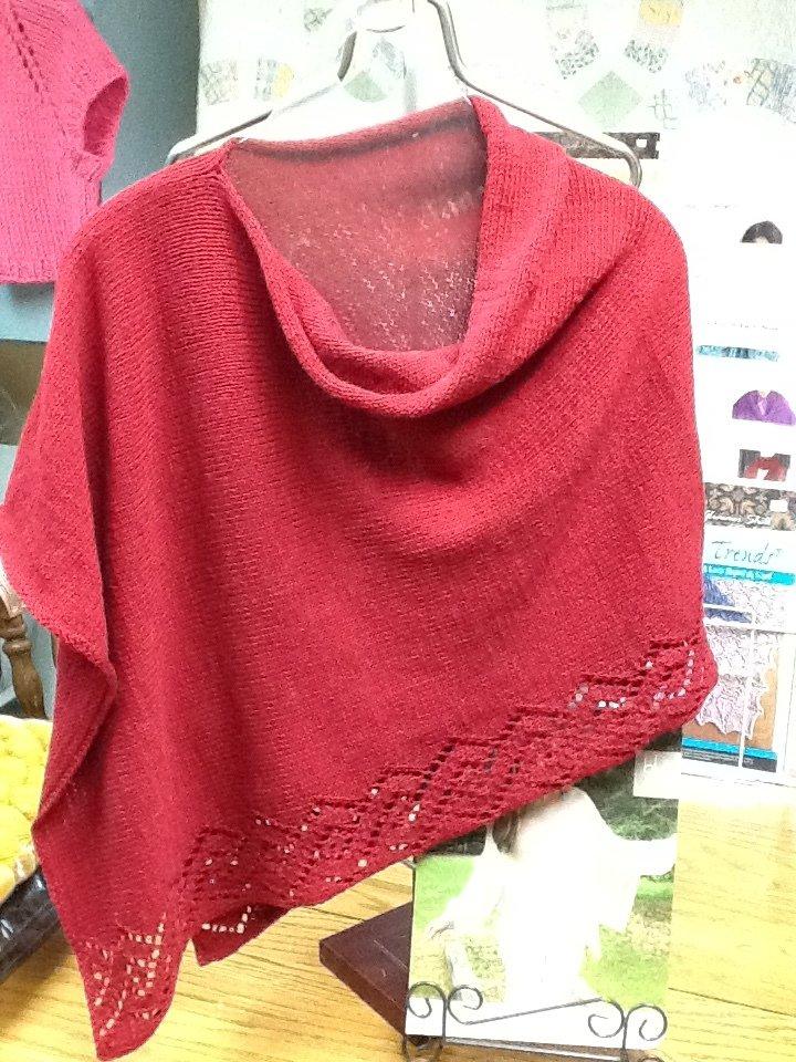 Etched Rio Wrap using Cotton Fleece yarn 1705