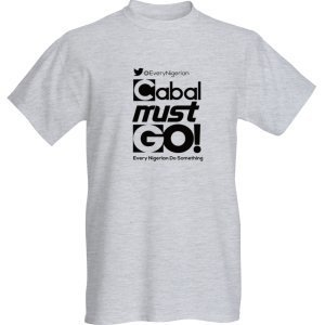 Cabal Must Go T-shirt Black on Grey 00001
