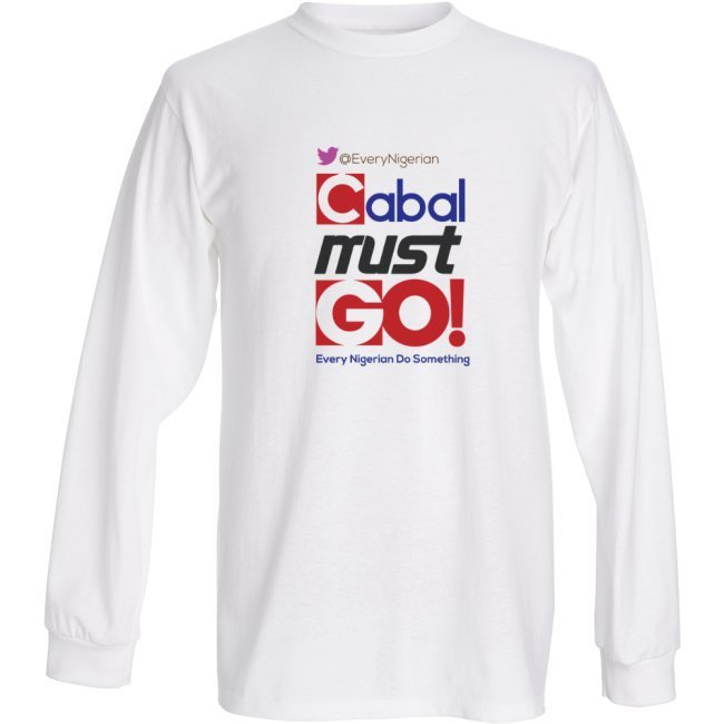 Cabal Must Go Sweat-shirt Colored on White/Grey 00004