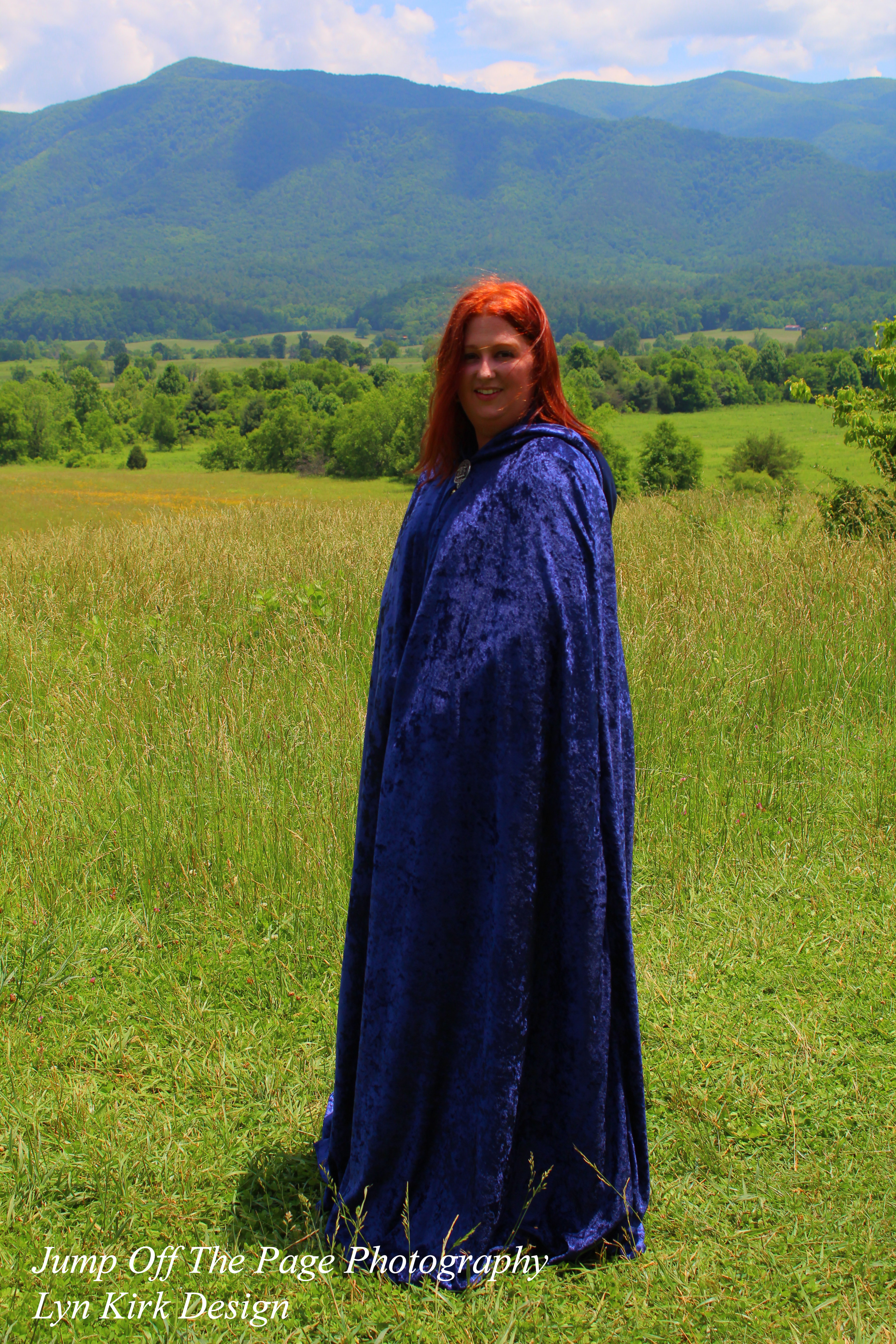 Fully-Lined Hooded Cape. LKD-C1-042116