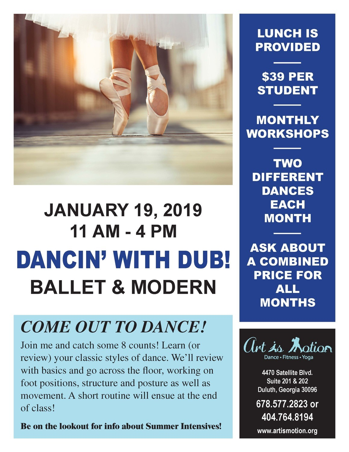 Teen Dance Workshop - Ballet & Modern