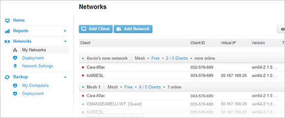 Create and Manage virtual networks as you need them
