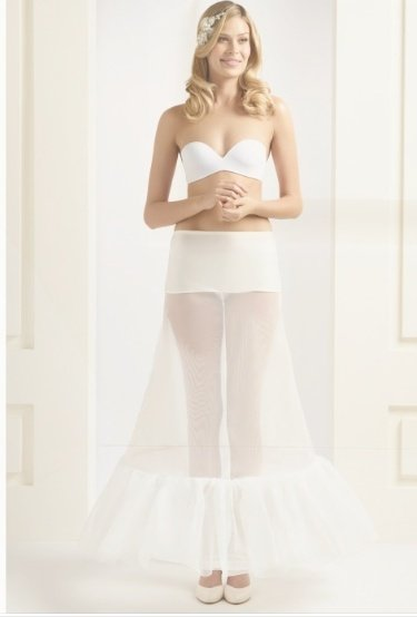 "H1 220 2 hoop underskirt with ruffle 87"" H1 220 Large"