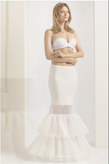 "H8 190 Large  2 hoop and Ruffles underskirt  75"" H8 190 Large"