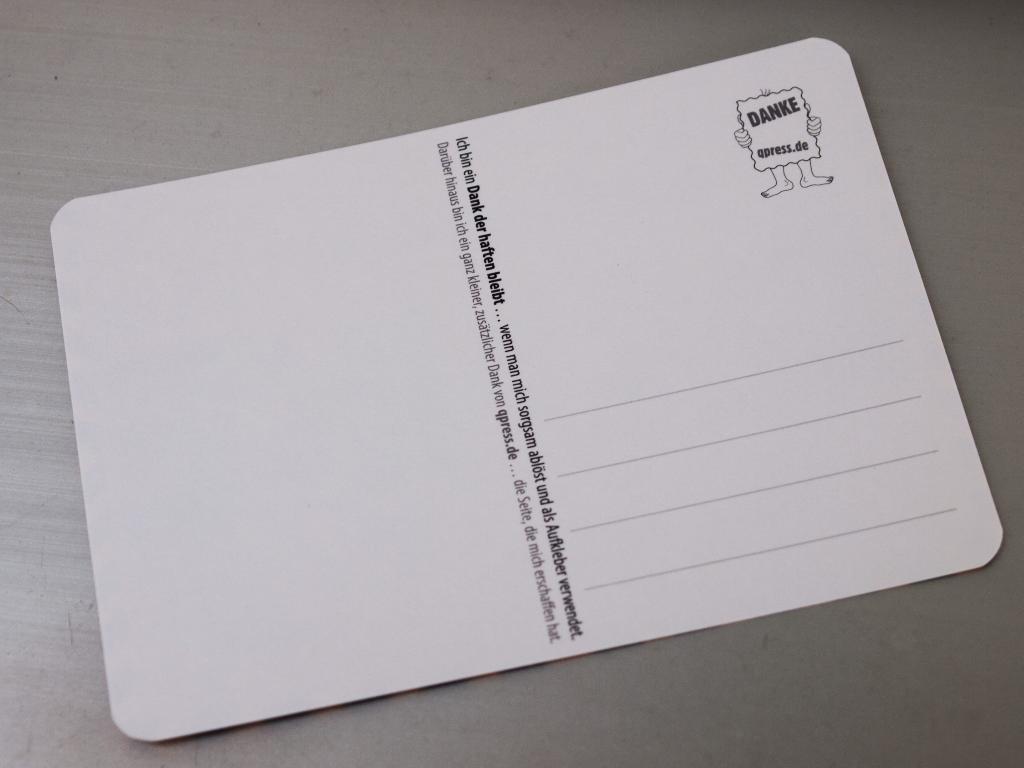 DANKE Postkarte | Aufkleber