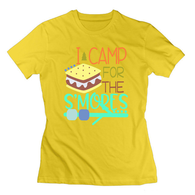 I Camp For The S'mores Ladies T-Shirt