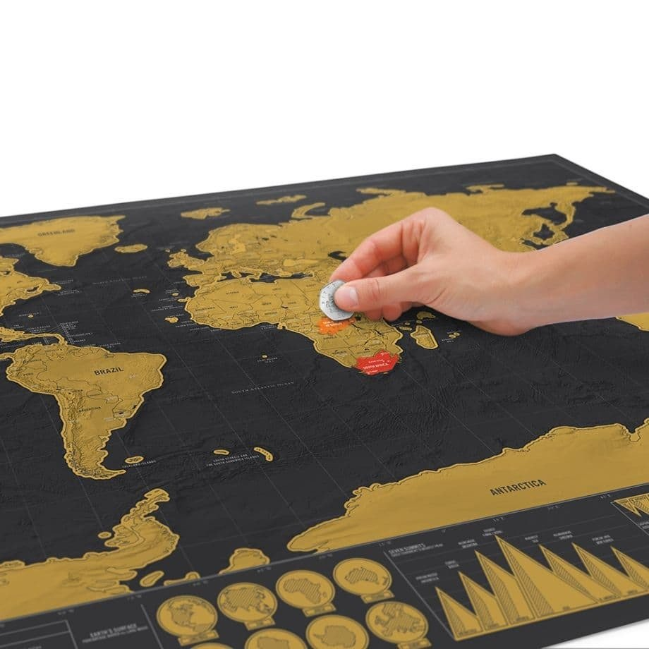 Винтажная скретч-карта Мира