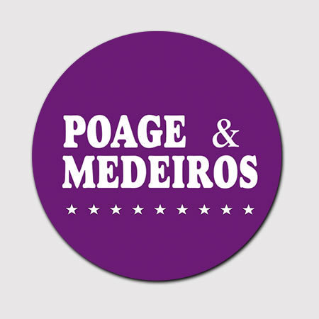"""New Product Duplicate    4 - inch """"Poage & Medeiros"""" Car Magnet"""