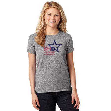 Woman's Graphite Heather 100% Cotton T-Shirt Woman's Graphite Heather T