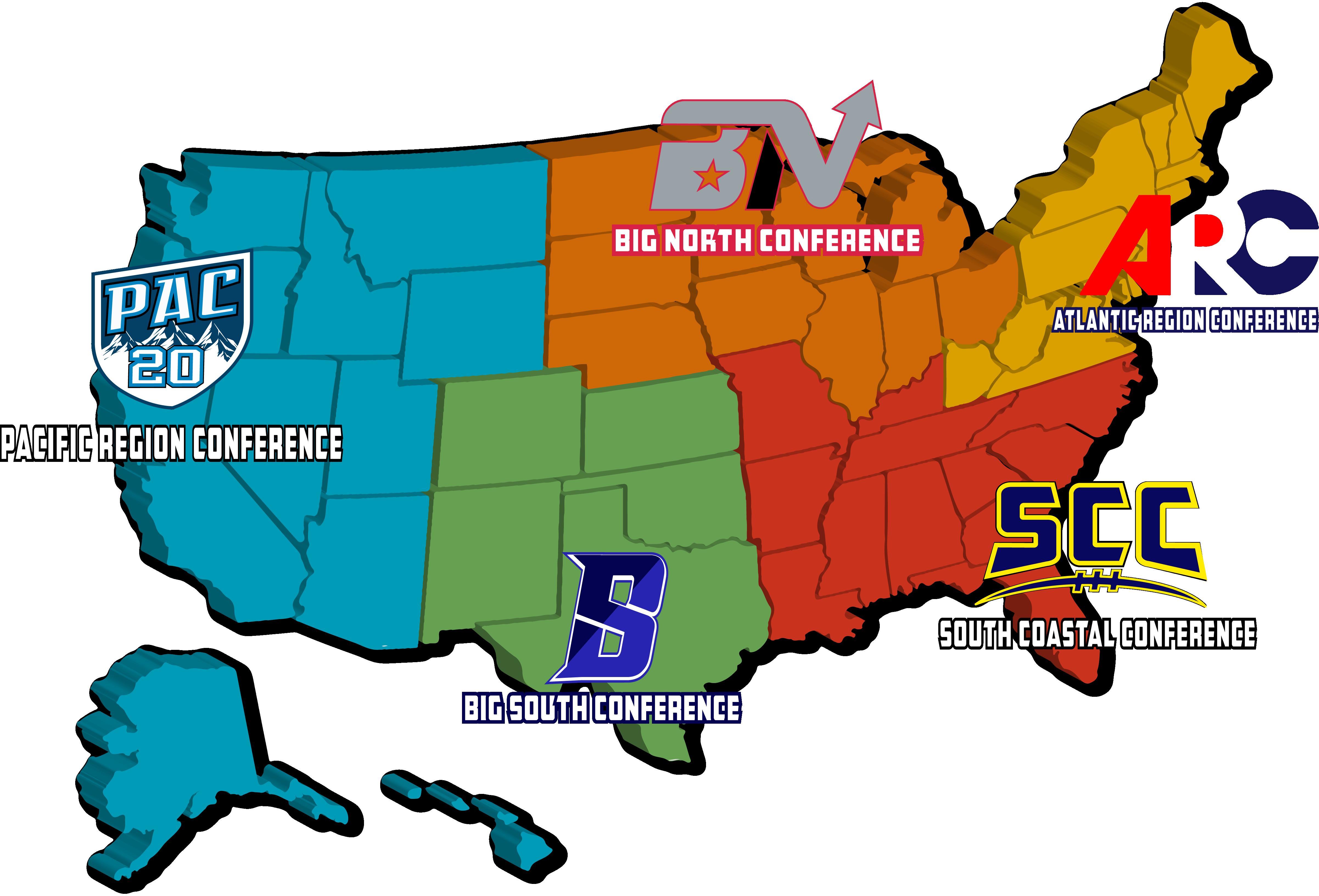 NYAA Conference Map