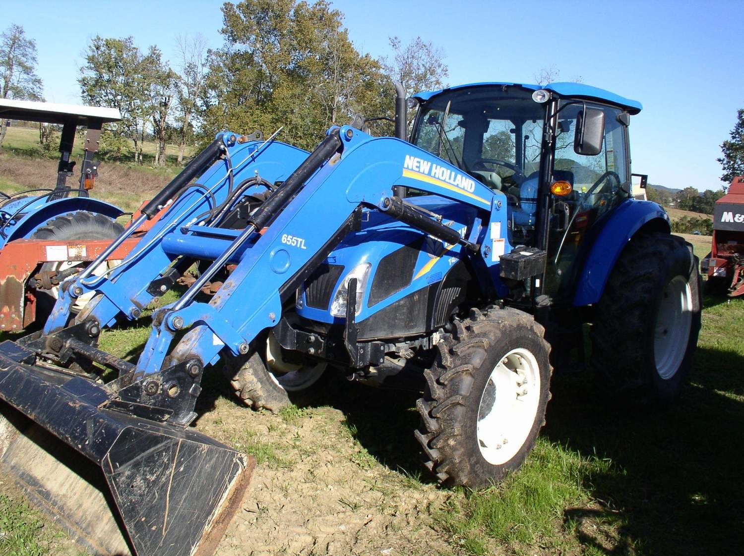 New Holland Powerstar T4 75 4wd Cab Tractor W Loader
