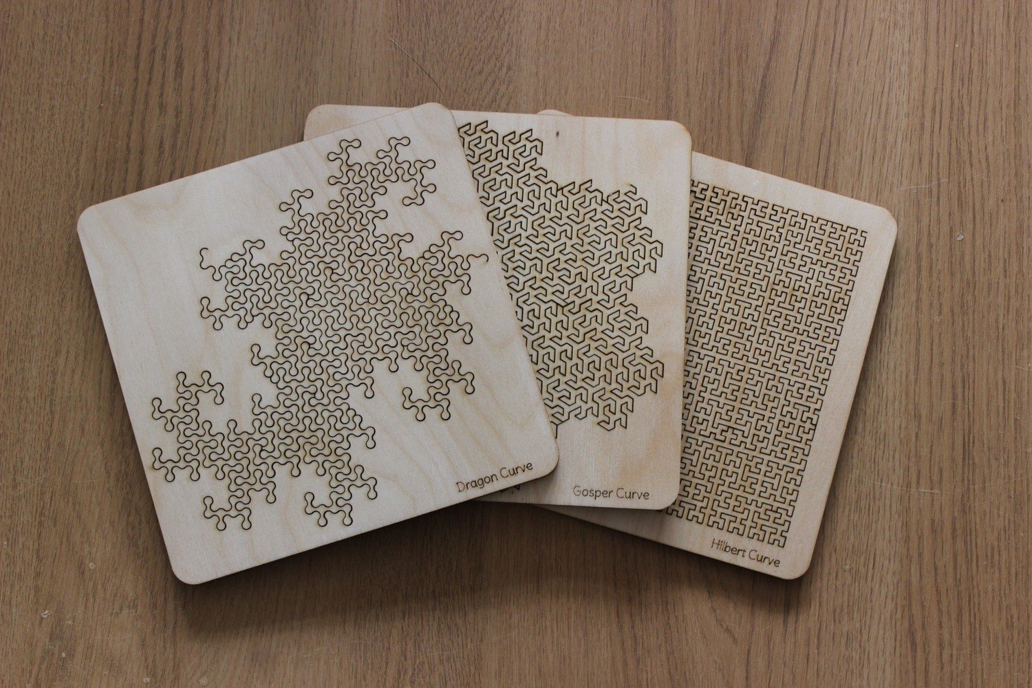 Fractal Tray Puzzles