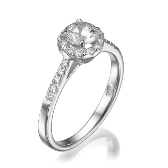 No. 8 Love In Infinity Engagement Diamond Ring in Platinum 0.50 Carats - No. 8 Collection