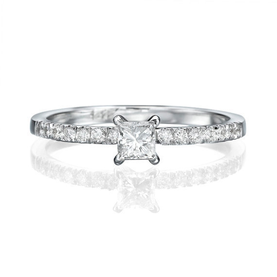 No. 8 Love In Infinity Engagement Diamond Ring in Platinum Ref.2423 - No. 8 Collection