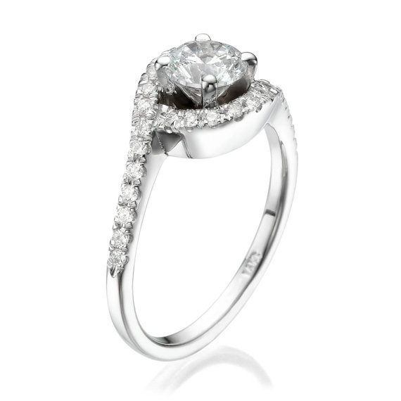 No. 8 Love In Infinity Engagement Diamond Ring in Platinum Ref.485 - No. 8 Collection
